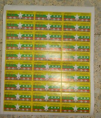 """MYANMAR SHEET OF 30 STAMPS, 2010 """"Multi-Party General """"** MNH"""