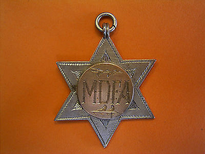 Silver And Gold Greytown FC Five-A-Side Football Fob Medal - 1905 - E.P.OWEN