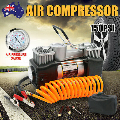 12V 150PSI 60L Car Air Compressor 4WD Portable Tyre Inflator Kit Pressure Pump