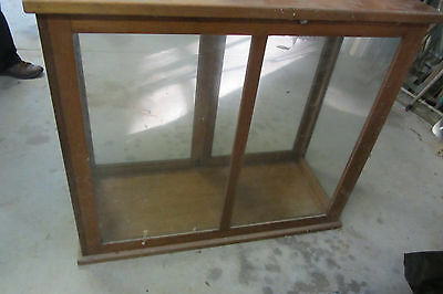 Timber and glass display case.