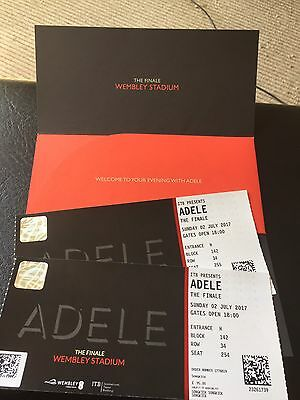 2 X ADELE WEMBLEY TICKETS! Amazing Seats 2nd July