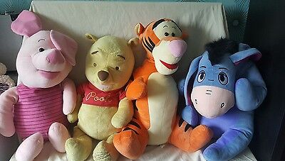 Large Disney Winnie the Pooh - Eeyore - Tigger and Piglet Soft Plush Toys