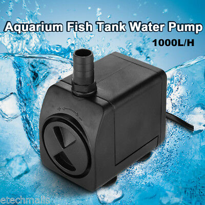 800L/H Submersible Water Pump Aquarium Fish Tank Pond Marine Feature Waterfall