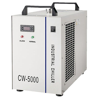 CW-5000AI Water Chiller for Single 5W-10W Solid-state Laser Cooling, 220V 50Hz