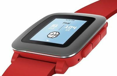 Pebble Time Smartwatch iPhone Android ePapier Display rot