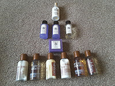11 piece Travel set molton brown, apothecary, shower gel body lotion shampoo