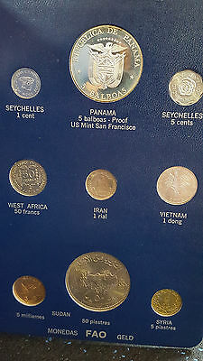 FAO money album 2 world coins