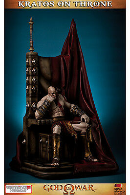 Gaming Heads KRATOS ON THRONE God of War STATUE Play Station 70 cm. IN STOCK!