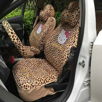 Car Seat Covers G-Leopard Hello Kitty Cartoon Universal Car Interior 18 Pieces