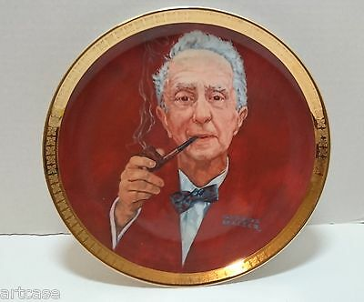 """Vintage Norman Rockwell"""" A Golden Tribute Plate"""" 1982 By George Malick Porcelain"""