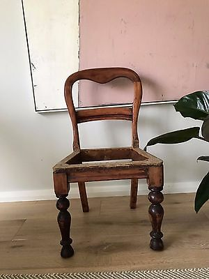 4x Antique Vintage Dining Chair Frames - Retro