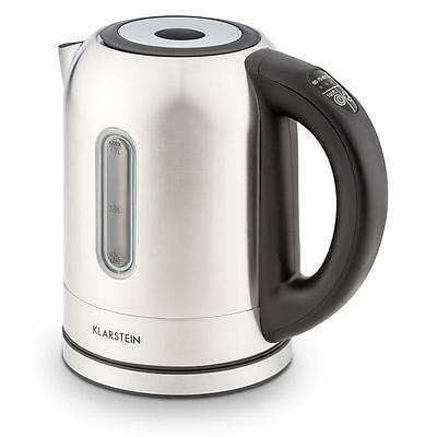 Stylish Klarstein Wildwater Kettle Stainless Steel 1.7 L Litre Fast Boil
