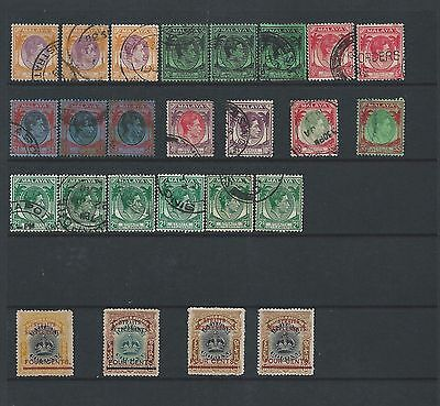 Straits Settlements King George V1 On 2 Stock Page Sides
