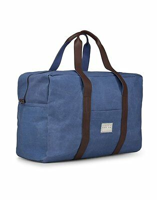 Reisetasche gross und robust - Travel Bag aus Canvas - Souve Bag - BLAU