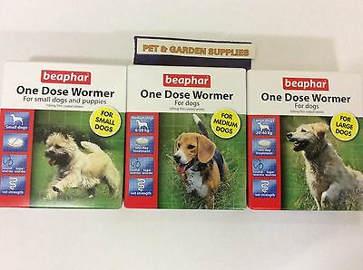beaphar One Dose Wormer for Worming Puppies & Dogs, small ,medium, large