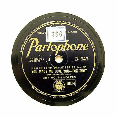 """MIFF MOLE'S MOLERS """"You Made Me Love You"""" PARLOPHONE R-647 [78 RPM]"""