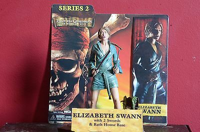 NECA Pirates of the Carribean At World's End Elizabeth Swann Action Figure USED