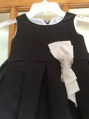 "GORGEOUS GIRLS BLACK/WHITE PARTY DRESS. by ""SUGAR PLUM"" Size 2T"