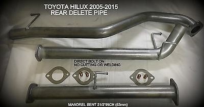 """TOYOTA HILUX 2005 TO 2015 D4D 3ltr  2 1/2"""" MUFFLER ELIMINATOR EXHAUST PIPE"""