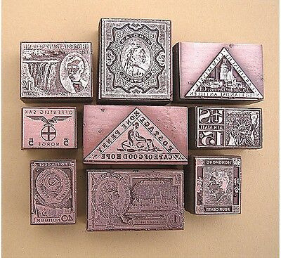 """POSTAGE STAMPS OF THE WORLD"" (Set 1) Printing Blocks."