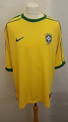 Brazil 1998/1999/2000 World Cup Home Football Shirt Jersey Camiseta Nike Xl