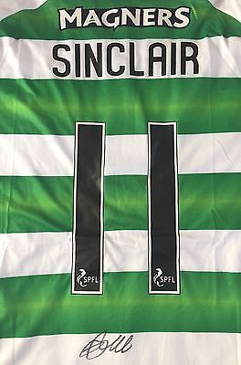 Scott Sinclair Personally Signed Shirt, 16-17, Celtic, Proof Shown, 2
