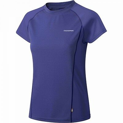 CRAGHOPPERS Womens Vitalise SPORTS WICKING T-shirt Purple - SIZE 6 RRP £18