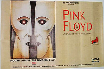 """PINK FLOYD THE DIVISION BELL RARE GIANT FRENCH POSTER 46"""" x 31"""" (117CMX79)"""
