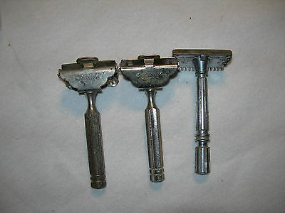 Vintage Gem Safety Razor Lot of 3