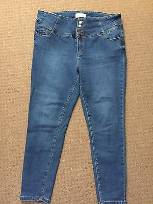 New Look High Waist Skinny Jeans Size 18