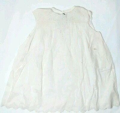 Madeira Handmade Vintage Embroidered Cotton Baby Toddler or Doll Dress