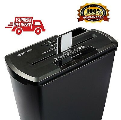 Office Paper Credit Card Shredder Heavy Duty 8 Sheet Strip Cut Destroy CD DVD