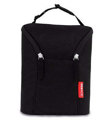 Skip Hop Grab and Go Double Bottle Bag Black
