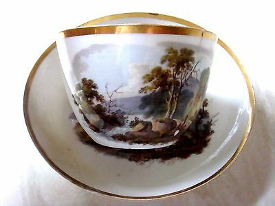 Herculaneum Porcelain Unrecorded Pattern Tea Cup & Saucer Samuel Williams C1815