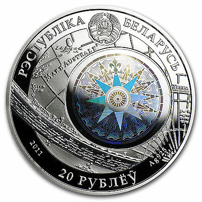 Belarus 2011 Sailing Ships with Hologram Silver Coin - Cutty Sark + COA
