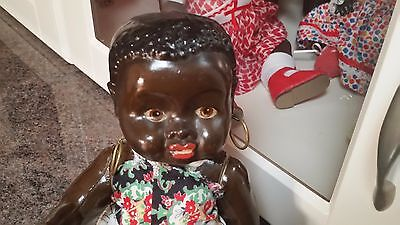 Vintage Black / Brown Clay / Composition Doll