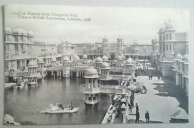 COURT OF HONOUR FROM CONGRESS HALL, FRANCO- BRITISH EXHIBITION, LONDON  postcard