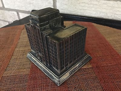 Vintage Kraft Phenix 1938 Cheese Rehberger Mini Metal Souvenir Building