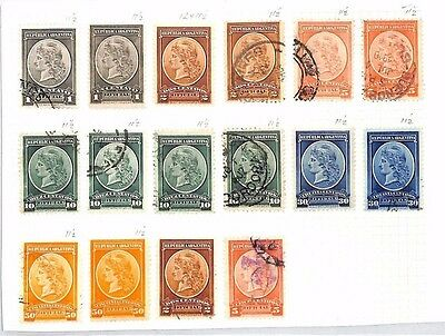 SA1223 ARGENTINA Official StampsOriginal album page from old-time collection