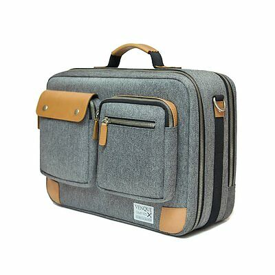Reisetasche Business / Weekender mit Laptopfach - GRAU (Carry-on, Handgepäck)