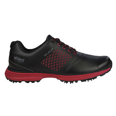 Stuburt 2017 Gents Helium Tour eVent Spikeless Golf Shoes in Black/Red Uk Size 8