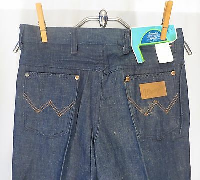 Vintage 70s Denim Jeans Wrangler Bell Bottoms Girls sz 14 Dead Stock