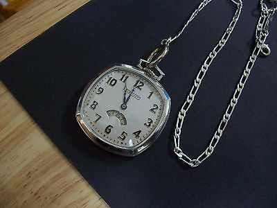 """Original 12s Waltham """" Secometer """" Colonial Series Pocket watch and Fob Chain"""