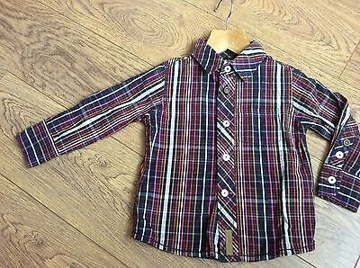 Baby Boys Autograph Check Shirt Age 12-18 Months