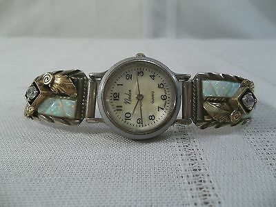 ~Silver Ray~Sterling Silver & Gold Filled CZ and Opal Accented Watch Tips~Watch~