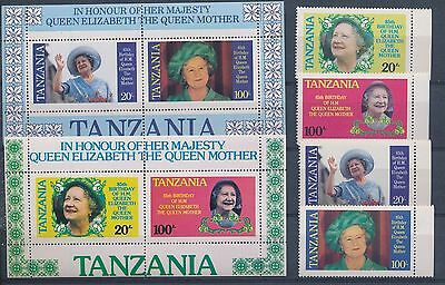LG67744 Tanzania the queen mother fine lot MNH