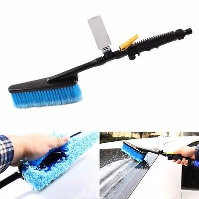 New Durable Car Wash Cleaning Brush Auto Retractable Long Handle Water Flow