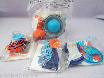 Mcdonalds Happy Meal Toy Nerf  Set 4 Different Toys MIP