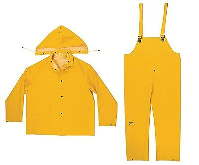 New Clc - R101M - 3-Piece Yellow Pvc Foul Weather Rain Suit, Size Medium