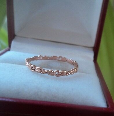 Clogau Welsh 9ct Rose Gold Tree Of Life Stacking Ring  -  size M
